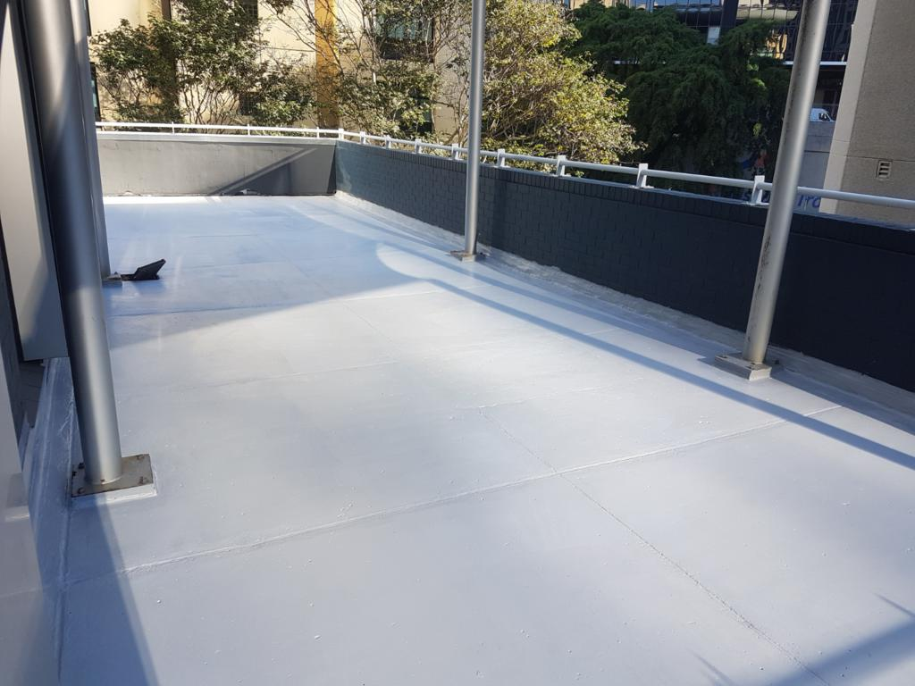 Balcony membrane repair of a leaking balcony in Brisbane.