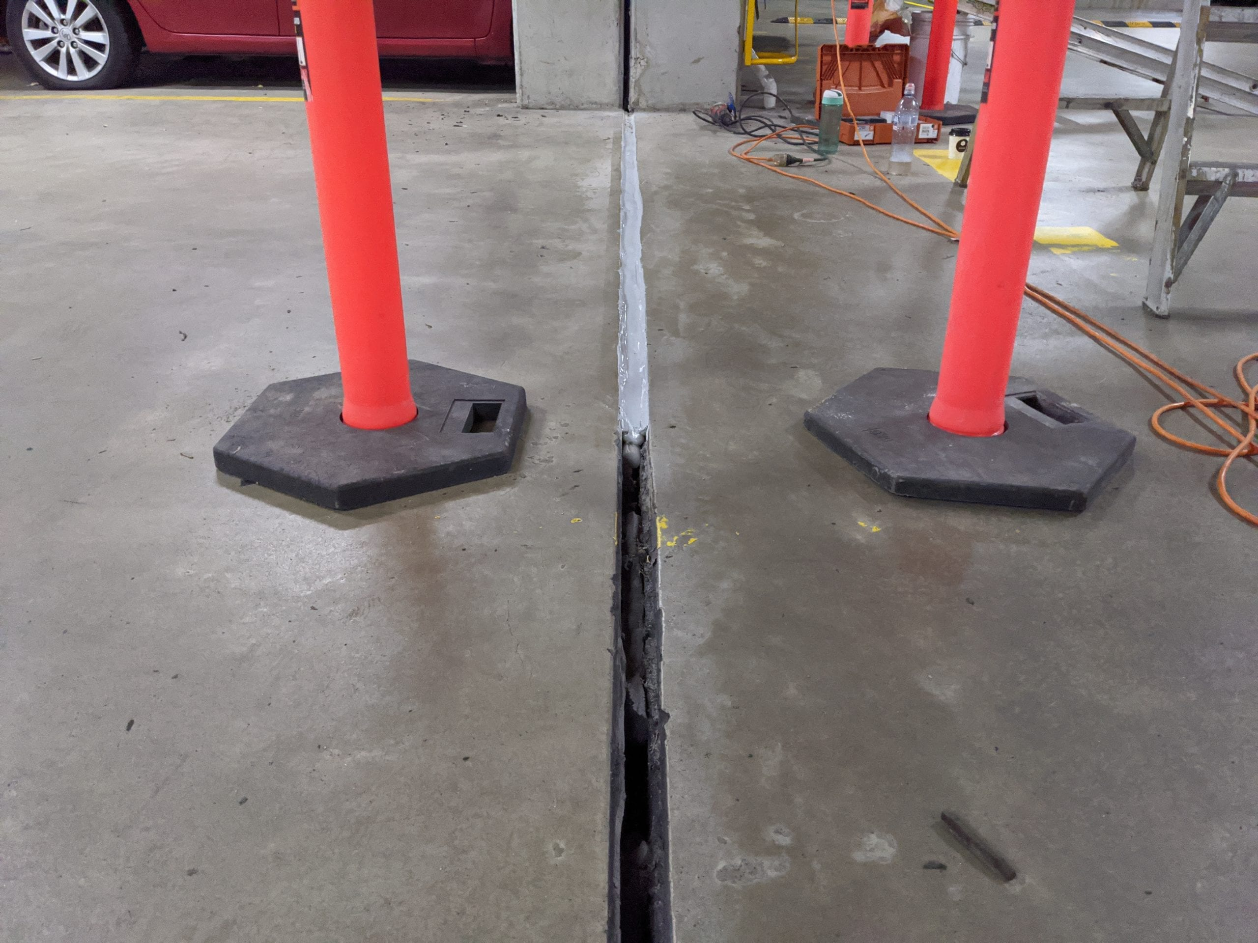 Joint repair - joint refurbishment - joint sealing - Sydney car park construction joint - Waterstop Solutions