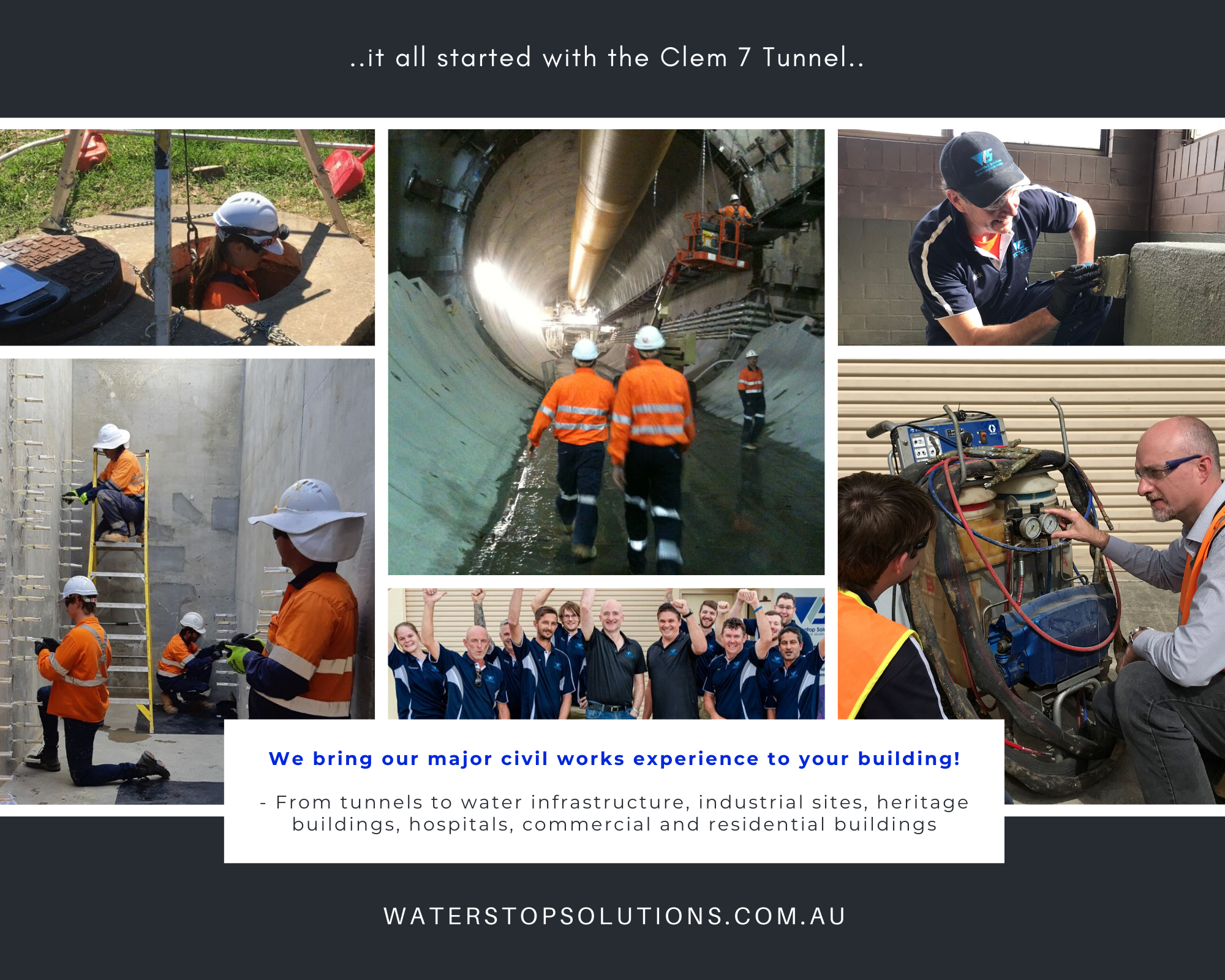 It started with the Clem 7 (The M7 Clem Jones Tunnel) tunnel in 2009 - Waterstop Solutions