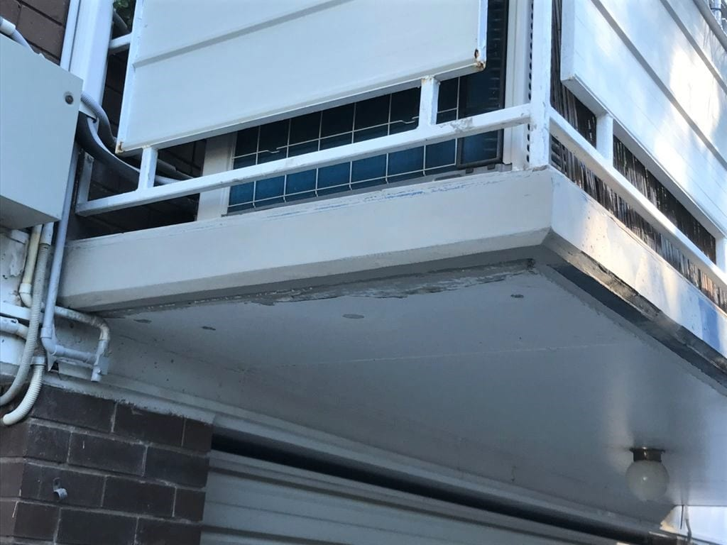 Concrete cancer repair on balcony completed - Waterstop Solutions